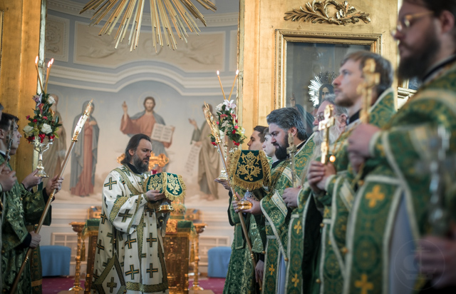В день Святого Духа владыка ректор совершил диаконскую хиротонию