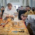 В Неделю Всех святых богослужения в храме Духовной Академии возглавил епископ Амафунтский Николай