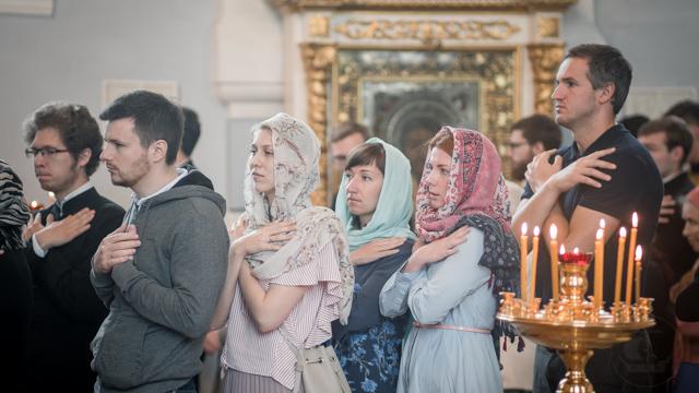 В Духовной Академии прошли первые, после завершения учебного года, воскресные богослужения