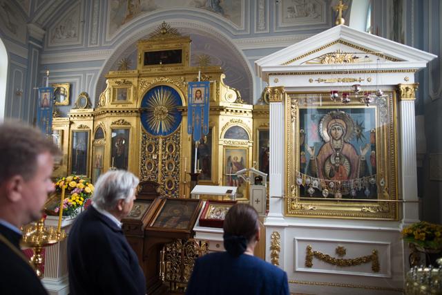 Ректор Духовной Академии встретился с князем и княгиней Строцци