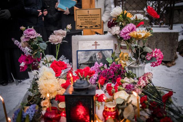Ректор Духовной Академии совершил литию по архимандриту Ианнуарию (Ивлиеву)