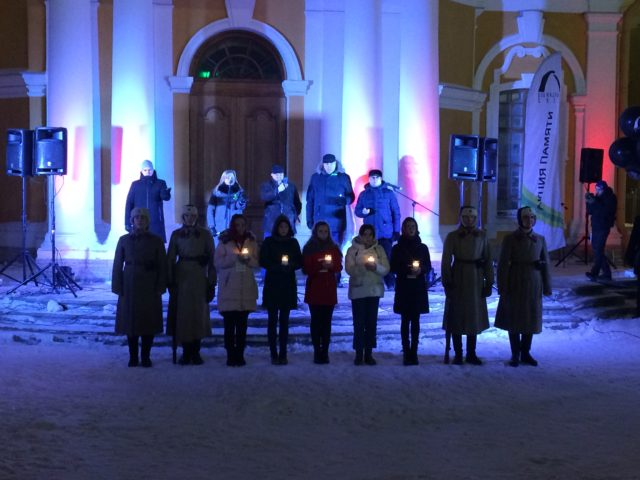 Студенты Духовной школы приняли участие в акции, посвященной 75-летию снятия блокады Ленинграда